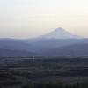 Horsethief Butte. Mount Hood through the haze.