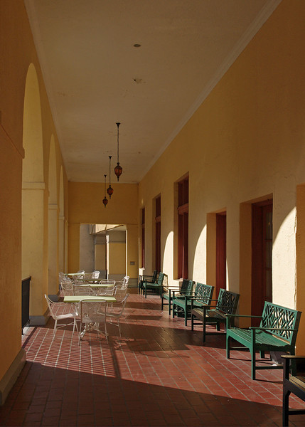 Porch, The Arlington Hotel, Hot Springs, Arkansas.