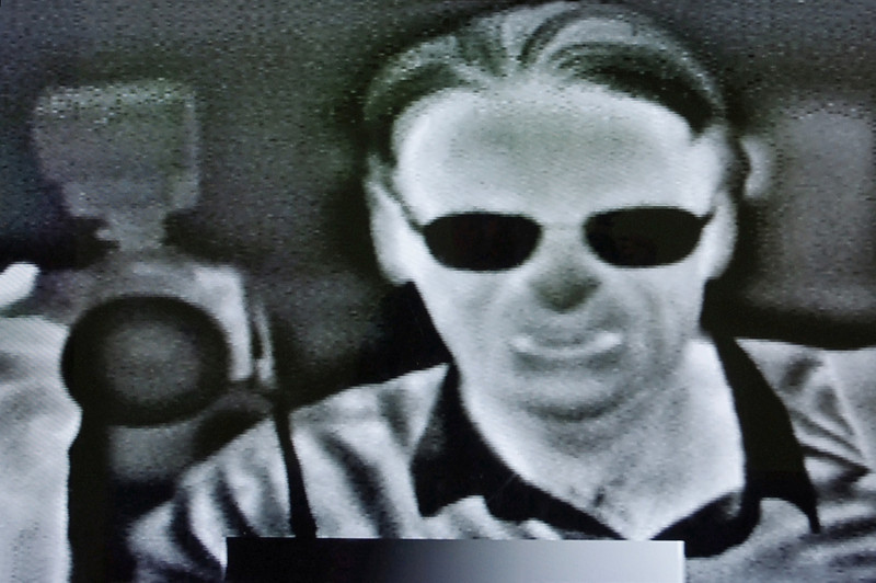 Self portrait with infra-red cam; Mid-America Science Museum, Hot Springs, Arkansas.
