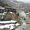 View of Jigokudani onsen