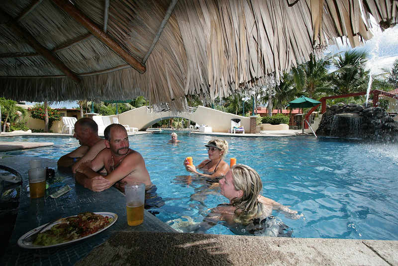 It gets quite warm down here in Mexico, so the Swim-Up Bar is a great place to relax and cool off.