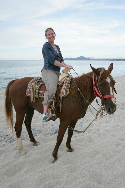 The horses were in great shape and the cost reasonable at $30 per hour. Here is my fiancee Jen with her horse Compadre.