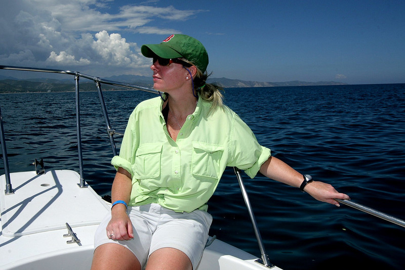 My fiancee Jen had a chance to get out on the water and take in the spectacular panoramic views.