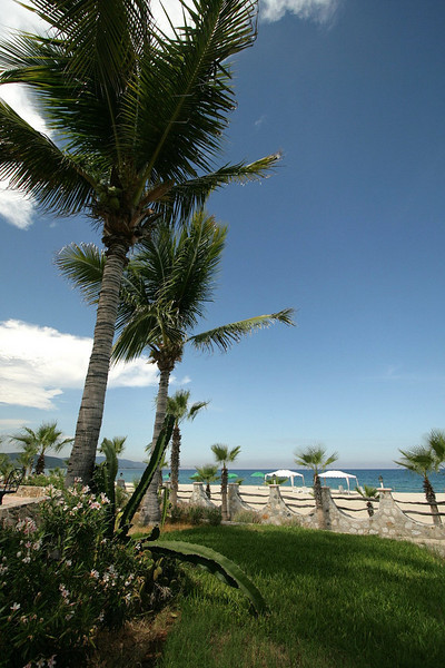 Relax at the private beach, where the sea temperature is very warm, in the mid eighties.