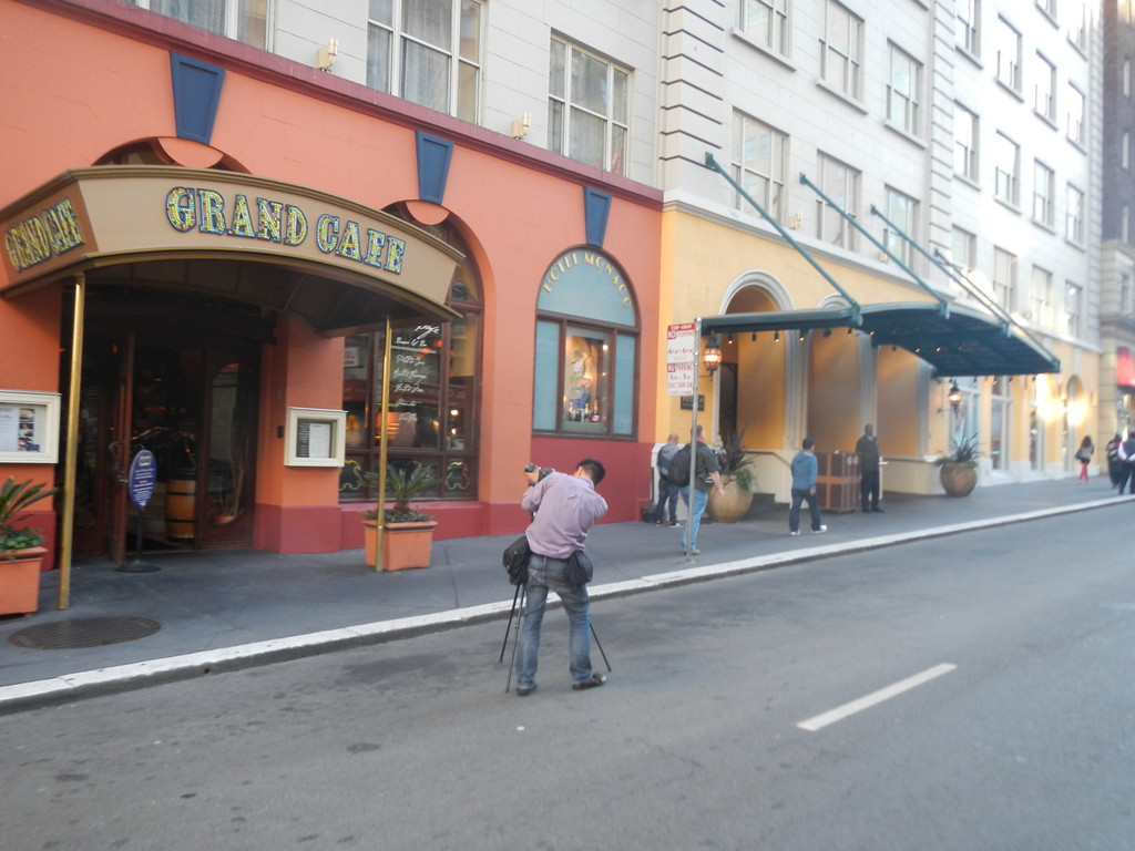 The exterior of the hotel.