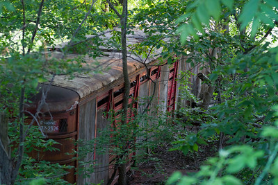 Old Railway car off the bike path.