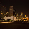 Houston downtown in the evening
