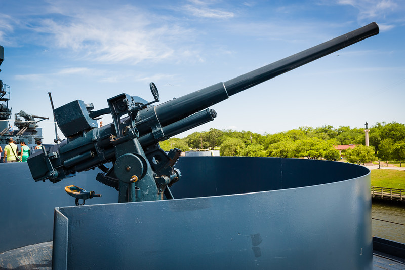Gun on a battleship