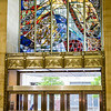 Stained Glass over the entry to the JP Morgan Chase Building