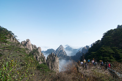 Huangshan (Yellow Mountain) in China.