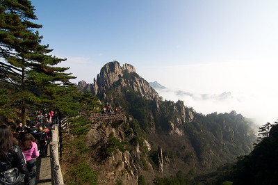 Huangshan (Yellow Mountain), in China
