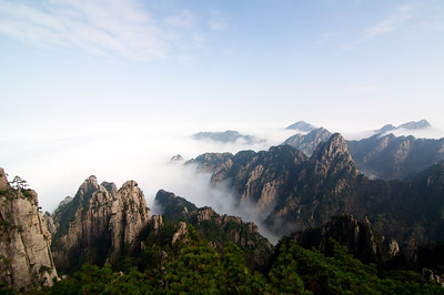 Huangshan (Yellow Mountian) in China.
