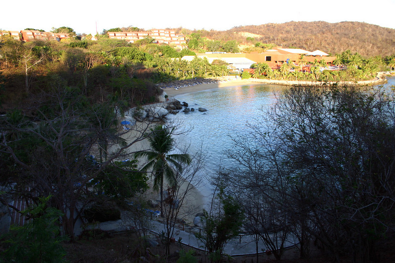 The resort has three small beaches each about 75 yards in length.