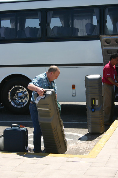 And when it was time to leave, Dave made absolutely sure that the golf clubs got on the bus.  All told, we were delayed about two hours.