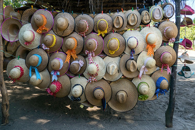 Merchant selling hats