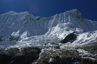 Mt. Chacraraju: This is one of the most difficult mountains to climb in Peru because of it's steep slopes on all sides.