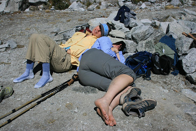 Maybe a little low on oxygen while dayhiking?