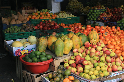 Fruit in the market in Huaraz