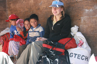Truck Ride: Riding in the box of a truck from Pocpa to Matacancha