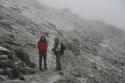 Atmospheric weather: Going up the high pass between Laguna Mitacocha and Laguna Carhuacocha