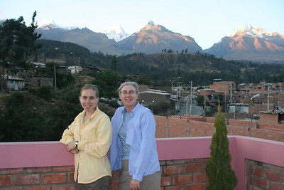 On the top floor of Hostal Albergue Churup in Huaraz
