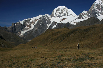 First view of Mt. Yerupaja: 2nd highest mountain in Peru