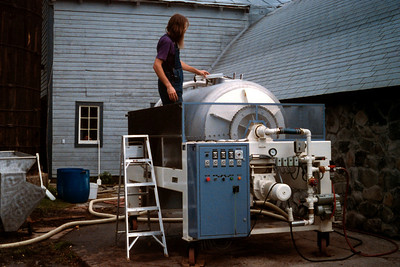 Wine press, West Park Winery, Hudson Valley, New York state, c.1987