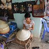 Next we stopped briefly at this village that made incense and conical hats...