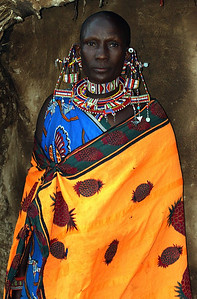 Masai Village lady Kenya