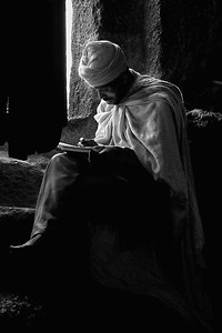 Priest Studying Ethiopia