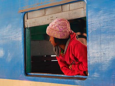 Girl and Train Myanmar