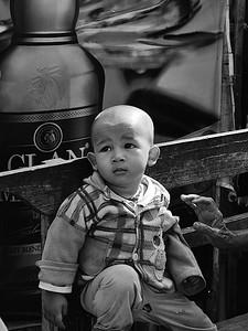 Kid and granny Myanmar
