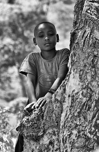 Boy reflecting - Ethiopia