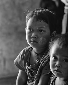 Kids visiting a school Myanmar