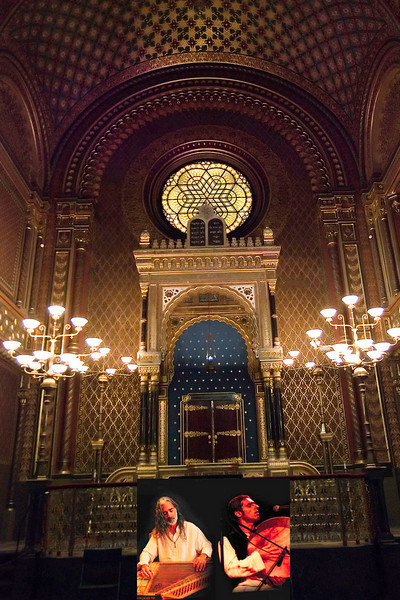 <CENTER>Last night in Prague: Wonderful zither/percussion concert in the Spanish Synagogue by the Toy Vivo Duo:  http://www.myspace.com/toyvivo