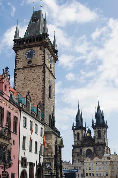Prague's famous clock tower