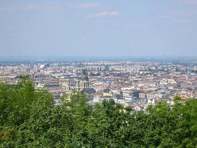 Budapest - maj 2003 A vue over Budapest from Gellert Hill
