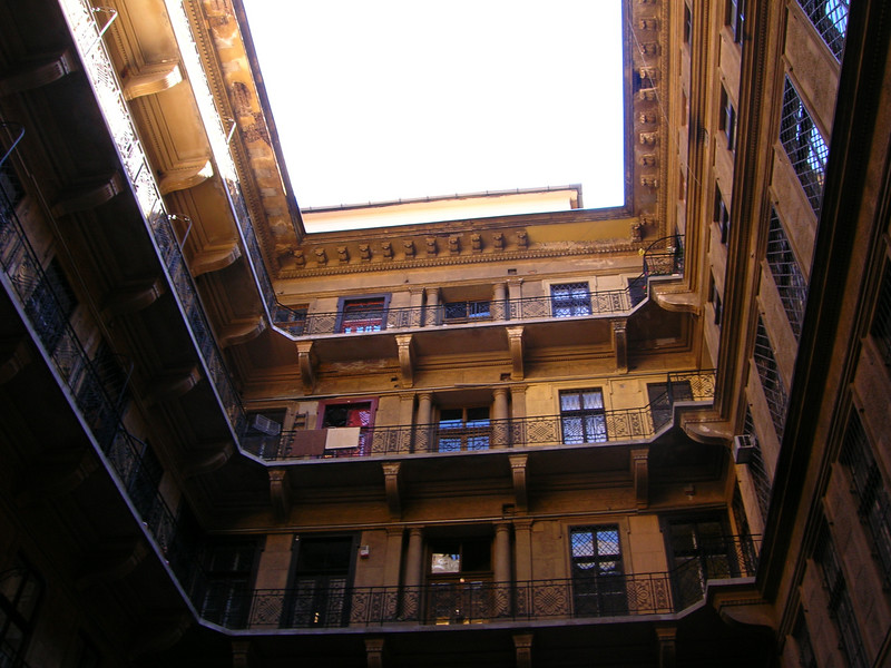 Budapest Building Courtyard