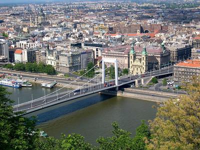 Budapest - maj 2003 Erzsébet hid, Elizabeth Bridge over Danube