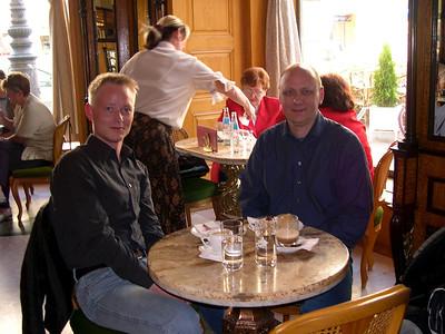 Budapest - maj 2003 Café Gerbeaud