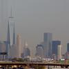 New York City skyline from Newark airport.