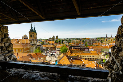 The town of Eger from the castle