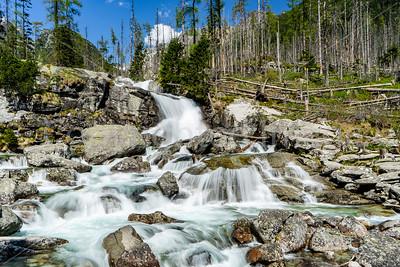 Studeny Potok Waterfalls in Tatra Mountains NP