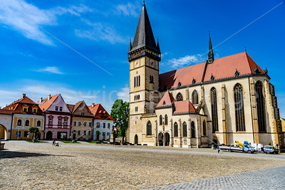 Town Hall square in Bardejov, Slovakia. A UNESCO World Heritage site