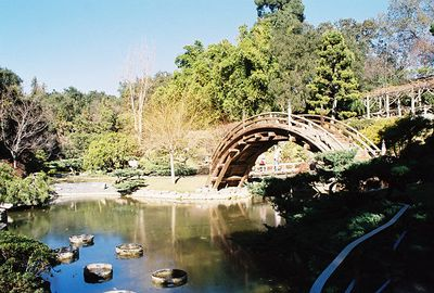 January 2003. Moon bridge at Japanese Garden, Huntington Library & Botanical Gardens, San Marino, CA