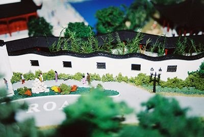 Sept or Oct 2004? Model of Huntington's Chinese Garden by Like Wu (commissioned by Eddie & Betty Wang). Temporarily housed at GLC's office.