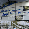 Welcome sign at the airport in Huntsville, Alabama.