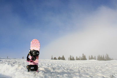 Lone Snowboard