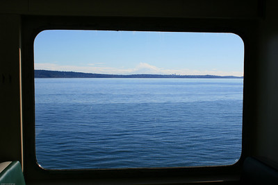 Looking out the window at Mt Rainier