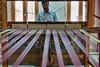 Handloom weaver at work.